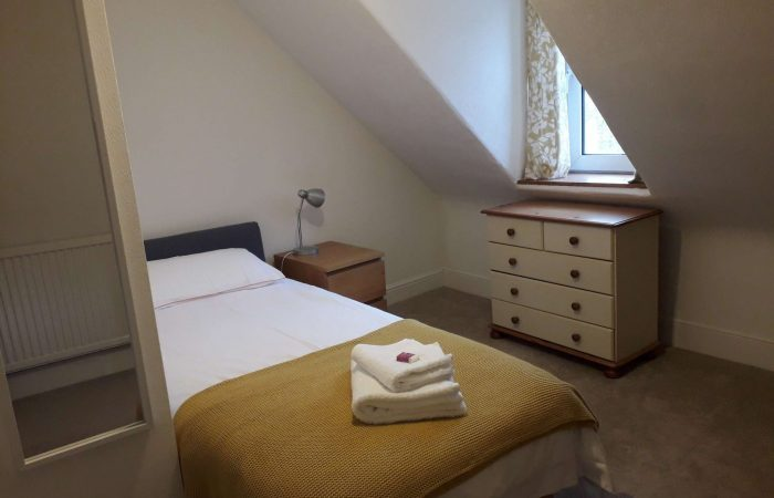 Single bedroom of 98 Church Street Inverness self catering apartment